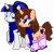 Size: 4138x4000 | Tagged: safe, artist:severity-gray, oc, oc:chloe adore, oc:coldlight bluestar, pony, unicorn, absurd resolution, boots, clothes, couple, cute, cutie mark, eyeshadow, female, lesbian, lipstick, makeup, mare, mistress, pair, piercing, ponytail, scarf, seductive, seductive look, shared clothing, shared scarf, shoes, simple background, subdorable, submissive, transparent background