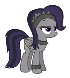 Size: 2652x2962 | Tagged: safe, artist:chomakony, oc, oc only, oc:skillful, pegasus, pony, female, mare, pegasus oc, simple background, smiling, solo, spikes, transparent background, wings