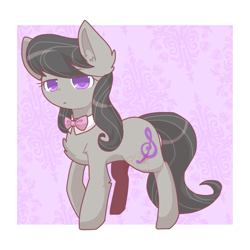 Size: 768x768 | Tagged: safe, artist:jisuppe, octavia melody, earth pony, pony, chest fluff, colored pupils, cute, ear fluff, female, leg fluff, looking at you, mare, solo, tavibetes