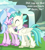 Size: 648x720 | Tagged: safe, edit, edited screencap, screencap, silverstream, terramar, student counsel, brother and sister, cropped, cute, diastreamies, female, jewelry, male, maud's cave, necklace, siblings, speech, talking, terrabetes, waterfall