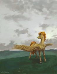 Size: 1320x1708 | Tagged: safe, artist:malinetourmaline, spitfire, pegasus, pony, solo