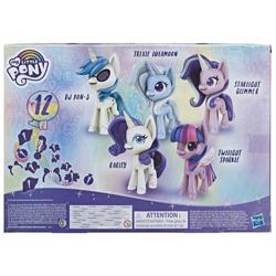 Size: 720x720   Tagged: safe, dj pon-3, rarity, starlight glimmer, trixie, twilight sparkle, vinyl scratch, my little pony: pony life, toy