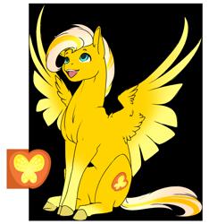 Size: 2320x2480 | Tagged: safe, artist:oneiria-fylakas, applejack, fluttershy, pegasus, pony, fusion, simple background, transparent background