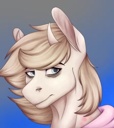 Size: 1080x1204 | Tagged: safe, artist:ash_helz, oc, oc only, bicorn, pony, abstract background, bags under eyes, bust, clothes, horn, multiple horns, solo