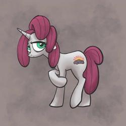 Size: 2048x2048 | Tagged: safe, artist:pfeffaroo, artist:pfeffaroo_art, oc, oc only, oc:stormy sunrise, pony, unicorn, abstract background, solo