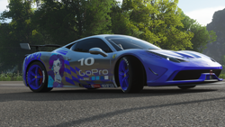 Size: 1920x1080 | Tagged: safe, rarity, equestria girls, ferrari, ferrari 458 speciale, forza horizon, forza horizon 4, game screencap, solo
