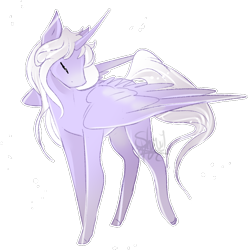 Size: 810x815 | Tagged: safe, artist:shiroikitten, oc, oc:cerise, alicorn, pony, female, mare, simple background, solo, transparent background