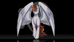 Size: 2560x1440 | Tagged: safe, artist:shamy-crist, oc, oc:klavier, pegasus, pony, male, solo, stallion