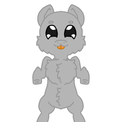 Size: 1000x1000 | Tagged: safe, artist:furhoof34, :p, base, chibi, simple background, solo, tongue out, transparent background, wholesome