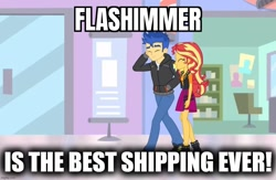 Size: 1080x706 | Tagged: safe, edit, edited screencap, screencap, flash sentry, sunset shimmer, equestria girls, equestria girls series, best ship, female, flashimmer, male, shipping, straight