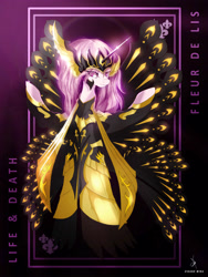 Size: 3161x4200 | Tagged: safe, artist:zidanemina, fleur-de-lis, pony, absurd resolution, anime, clothes, crossover, female, goddess, mare, saint seiya, solo