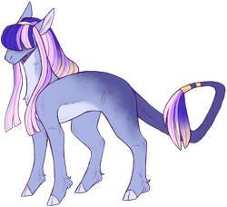 Size: 2445x2231 | Tagged: safe, artist:sleepy-nova, oc, oc:astral projection, earth pony, pony, cloven hooves, female, hair over eyes, leonine tail, magical lesbian spawn, mare, offspring, pale belly, parent:fluttershy, parent:twilight sparkle, parents:twishy, simple background, solo, transparent background