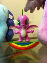 Size: 1280x1707 | Tagged: safe, artist:starponys87, mochaccino, rare find, spike, dragon, collectible, collection, figure, figurine, happy meal, mcdonald's, mcdonald's happy meal toys, merchandise, mexican, mexico, toy, winged spike, wings