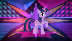 Size: 3840x2160 | Tagged: safe, artist:firesidearmy46231, artist:laszlvfx, edit, twilight sparkle, alicorn, pony, cute, female, happy, high res, mare, open mouth, raised hoof, solo, twiabetes, twilight sparkle (alicorn), wallpaper, wallpaper edit