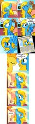 Size: 1026x3584 | Tagged: safe, artist:furrgroup, spitfire, oc, oc:internet explorer, pegasus, pony, ask internet explorer, browser ponies, dream, internet explorer, newspaper, race swap