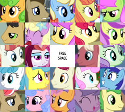 Size: 1549x1384 | Tagged: safe, edit, edited screencap, editor:jaredking203, screencap, apple bumpkin, apple cider (character), beaude mane, cayenne, cherry cola, cherry fizzy, citrus blush, doctor whooves, globe trotter, huckleberry, lavender fritter, lemon hearts, lightning bolt, merry may, minuette, perfect pie, pretzel twist, rainbow stars, royal ribbon, spring forward, sugar maple, sunny rays, time turner, twinkleshine, velvet light, violet twirl, white lightning, earth pony, pegasus, pony, unicorn, apple family member, bingo, female, friendship student, male, mare, stallion