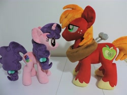 Size: 4608x3456 | Tagged: safe, artist:little-broy-peep, big macintosh, sugar belle, pony, female, high res, irl, male, photo, plushie, shipping, straight, sugarmac