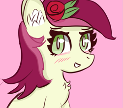 Size: 837x733   Tagged: safe, artist:samy_creamyberry, roseluck, earth pony, pony, female, simple background, solo