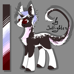 Size: 1024x1024 | Tagged: safe, artist:intfighter, oc, oc only, pony, unicorn, chest fluff, colored hooves, horn, leonine tail, reference sheet, solo, unicorn oc