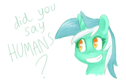 Size: 305x203 | Tagged: safe, artist:breadcipher, lyra heartstrings, pony, bust, female, mare, portrait, simple background, smiling, solo, that pony sure does love humans, white background
