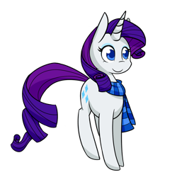 Size: 1000x1000   Tagged: safe, artist:breadcipher, rarity, pony, unicorn, clothes, female, mare, no pupils, scarf, simple background, solo, transparent background