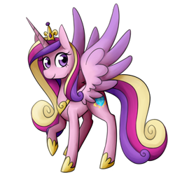 Size: 600x600   Tagged: safe, artist:breadcipher, princess cadance, alicorn, pony, crown, cute, cutedance, female, jewelry, mare, regalia, simple background, solo, spread wings, transparent background, wings