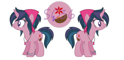 Size: 2188x1072 | Tagged: safe, artist:silvercloud36, oc, oc only, oc:hestia, unicorn, horn, offspring, parent:sci-twi, parent:timber spruce, parent:twilight sparkle, parents:timbertwi, simple background, solo, transparent background, unicorn oc