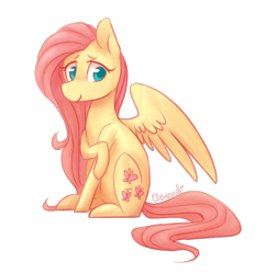 Size: 1280x1382 | Tagged: safe, artist:breadcipher, fluttershy, pegasus, pony, cute, female, mare, shyabetes, simple background, sitting, solo, transparent background