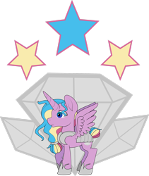 Size: 2250x2665 | Tagged: safe, artist:lunarcombustion, princess sterling, alicorn, solo
