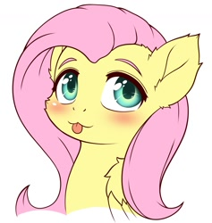 Size: 1183x1246 | Tagged: safe, artist:symbianl, fluttershy, pegasus, blushing, cute, digital art, shyabetes, simple background, solo, tongue out, white background