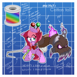 Size: 1600x1600 | Tagged: safe, artist:sanyo2100, oc, demon, blueprint, doll, possessed, puppet, toy