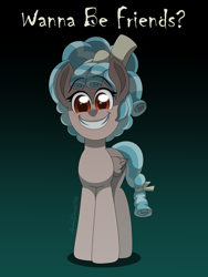 Size: 3000x4000 | Tagged: safe, artist:aarondrawsarts, cozy glow, pegasus, commission, creepy, creepy smile, evil grin, grin, looking at you, smiling, solo