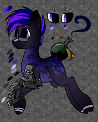Size: 1336x1656   Tagged: safe, artist:intfighter, oc, oc only, earth pony, pony, amputee, augmented tail, earth pony oc, glasses, male, prosthetic limb, prosthetics, reference sheet, solo, stallion