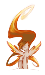Size: 2900x4800   Tagged: safe, artist:kiwwsplash, oc, oc only, pegasus, pony, eyes closed, long mane, long tail, pegasus oc, simple background, solo, spread wings, white background, wings