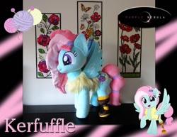 Size: 1280x990 | Tagged: safe, artist:purplenebulastudios, kerfuffle, pony, irl, photo, plushie, solo