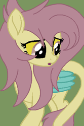 Size: 311x468 | Tagged: safe, artist:circuspaparazzi5678, oc, oc only, oc:kristina hooves, pegasus, pony, base used, draconequus hybrid, movie accurate, parent:discord, parent:fluttershy, solo