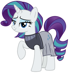 Size: 1024x1070 | Tagged: safe, artist:emeraldblast63, coloratura, rarity, alternate hairstyle, clothes swap, countess coloratura, rara, simple background, transparent background