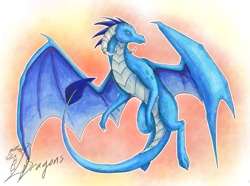 Size: 3275x2439 | Tagged: safe, artist:yeahbutthendragons, princess ember, dragon, dragoness, female, flying, signature, simple background, solo, traditional art