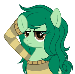 Size: 3871x3813 | Tagged: safe, artist:rioshi, artist:starshade, wallflower blush, earth pony, pony, equestria girls, equestria girls series, forgotten friendship, clothes, equestria girls ponified, eyebrows visible through hair, female, mare, ponified, rainbow dash salutes, simple background, solo, sweater, transparent background