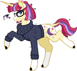 Size: 792x726 | Tagged: safe, artist:musical-medic, moondancer, pony, clothes, simple background, solo, sweater, transparent background, turtleneck