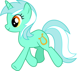 Size: 3270x3000 | Tagged: safe, artist:cloudyglow, lyra heartstrings, pony, unicorn, .ai available, cutie mark, female, high res, mare, simple background, solo, transparent background, trotting, vector