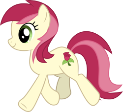 Size: 3270x3000 | Tagged: safe, artist:cloudyglow, roseluck, earth pony, pony, .ai available, cutie mark, female, high res, mare, simple background, solo, transparent background, trotting, vector