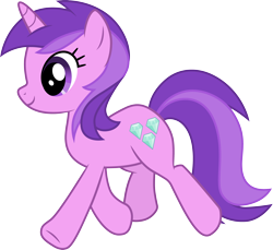 Size: 3270x3000 | Tagged: safe, artist:cloudyglow, amethyst star, sparkler, pony, unicorn, .ai available, cutie mark, female, high res, mare, simple background, solo, transparent background, trotting, vector