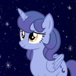 Size: 768x768   Tagged: safe, artist:stellamoonshine, oc, oc:stella moonshine, alicorn, pony, female, mare, night, solo