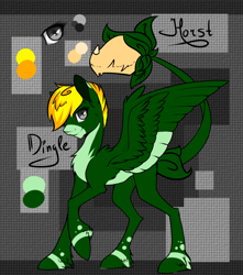 Size: 860x973 | Tagged: safe, artist:intfighter, oc, oc only, cow plant pony, monster pony, original species, plant pony, pony, augmented tail, base used, plant, raised hoof, reference sheet, wings