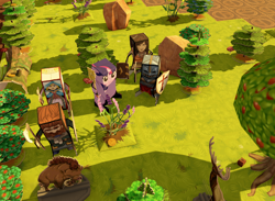 Size: 1356x992   Tagged: safe, artist:velgarn, twilight sparkle, alicorn, deer, elf, human, pony, apple, apple tree, armor, axe, barbarian, board, book, bow, cleric, coin, craft, fantasy class, forest, hunter, knight, mace, mod, paladin, papercraft, popup dungeon, priest, rock, rpg, scepter, tree, twilight scepter, twilight sparkle (alicorn), video game, viking, warrior, weapon