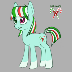 Size: 1000x1000 | Tagged: safe, artist:catachromatic, oc, oc:candy canter, earth pony, heterochromia, markings, simple background, solo