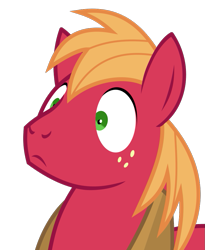 Size: 785x955 | Tagged: safe, artist:hudthepony, screencap, big macintosh, earth pony, pony, no second prances, base used, head, looking at something, shocked, shocked expression, shrunken pupils, simple background, solo, transparent background, vector