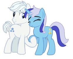 Size: 1412x1134 | Tagged: safe, artist:moonlightthegriffon, double diamond, minuette, earth pony, pony, unicorn, base used, crack shipping, cutie mark, female, hoof hold, male, nsfw description, shipping, simple background, straight, transparent background