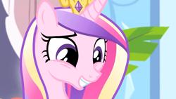 Size: 1920x1080   Tagged: safe, screencap, princess cadance, equestria games (episode), grin, smiling, solo